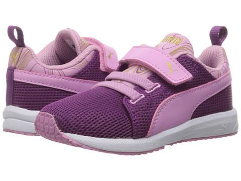 Puma Kids Carson Runner Marble V Inf (Toddler) - Hollyhock/Pastel Lavender
