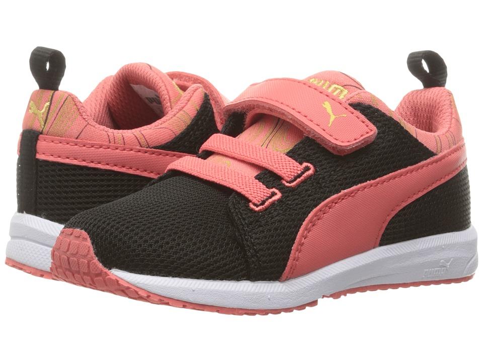 Puma Kids Carson Runner Marble V Inf (Toddler) (Puma Black/Porcelain Rose) Girls Shoes