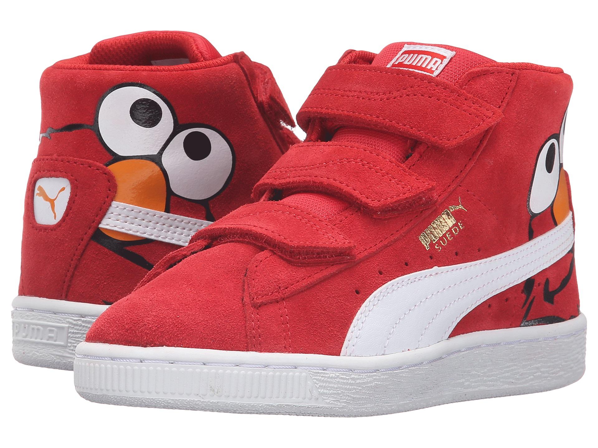 Puma Kids Suede Mid Sesame Elmo V PS (Little Kid/Big Kid ...