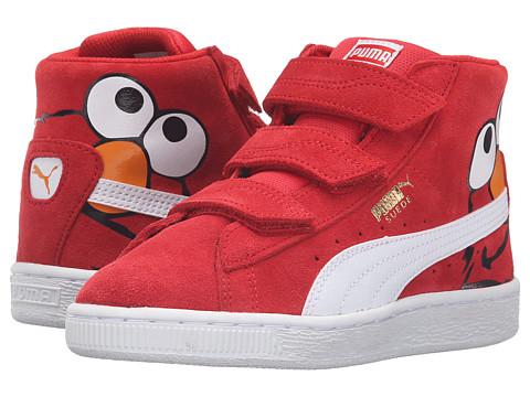 Puma Kids Suede Mid Sesame Elmo V PS (Little Kid/Big Kid)