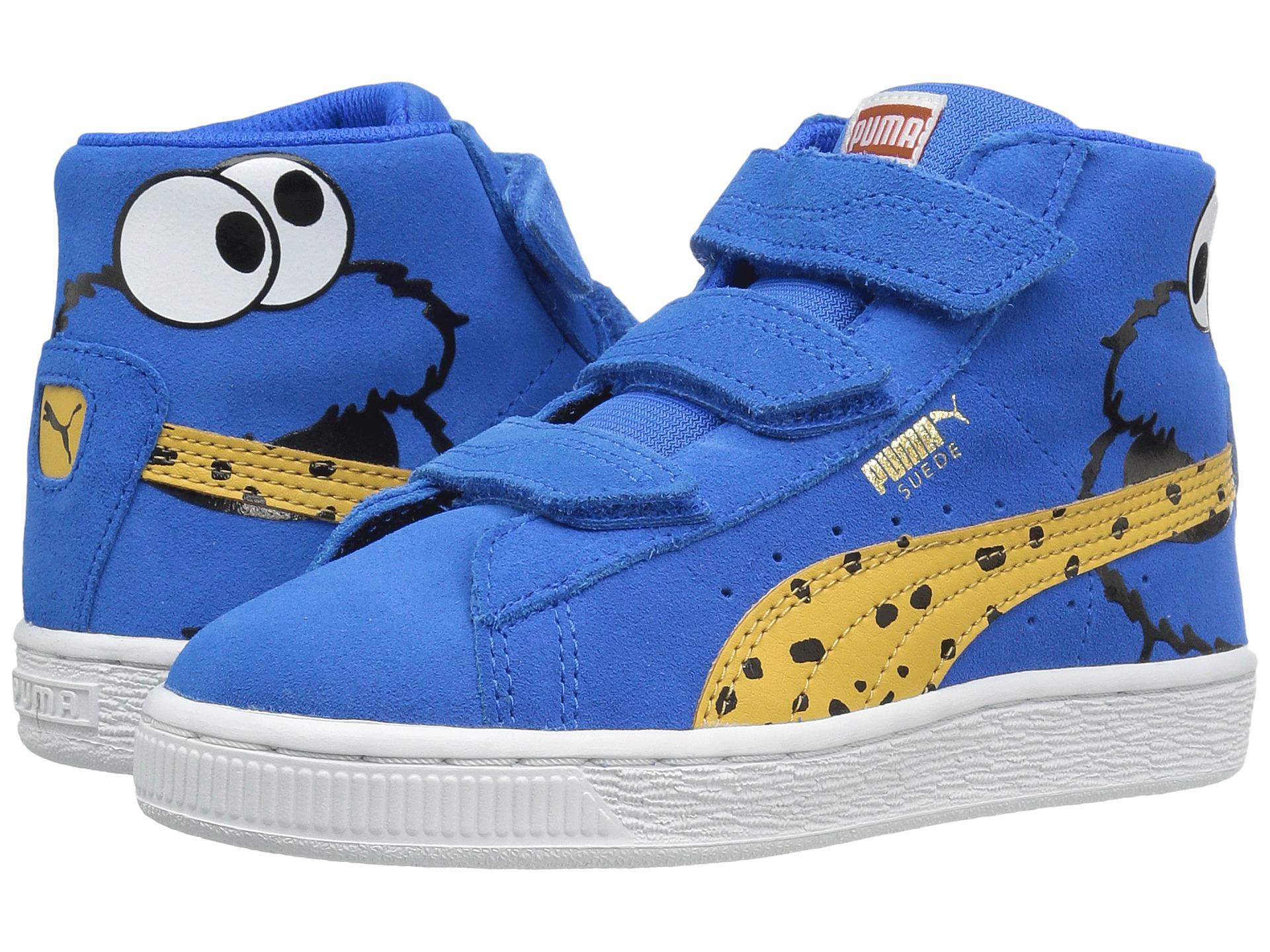 Puma Kids Suede Mid Sesame Cookie Monster V PS (Little Kid ...