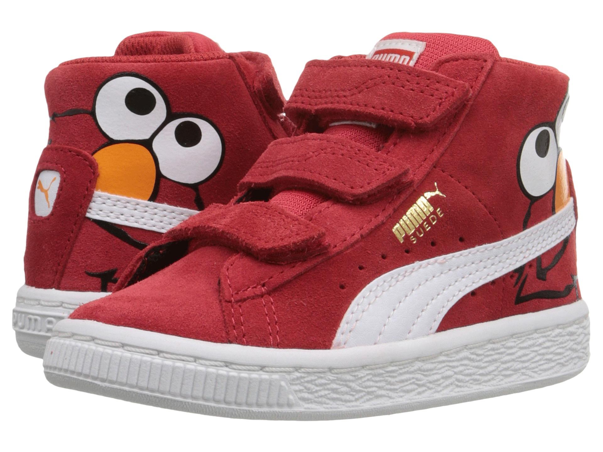 Puma Kids Suede Mid Sesame Elmo V Inf (Toddler) - Zappos ...