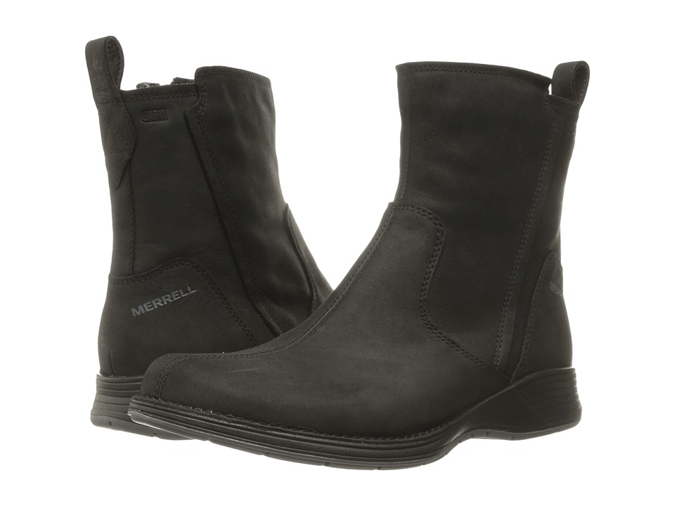 Merrell-Travvy Waterproof  (Black) Womens Boots