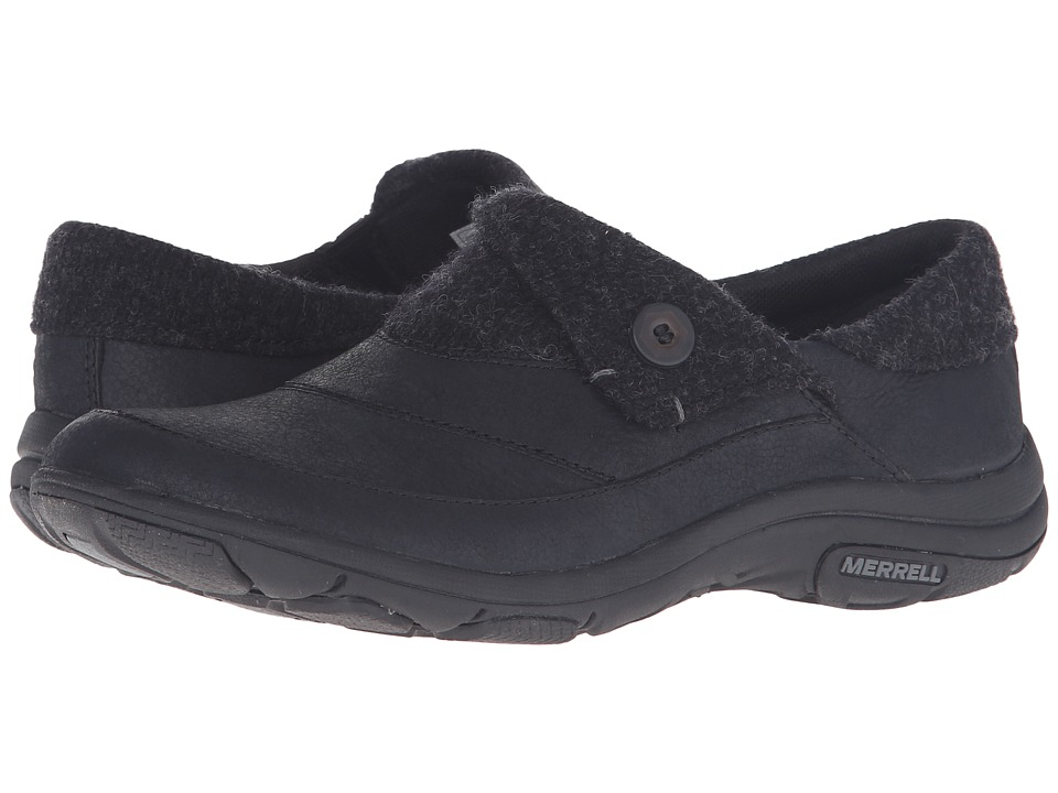 Merrell - Dassie Fold Moc (Black) Women's Slip on  Shoes