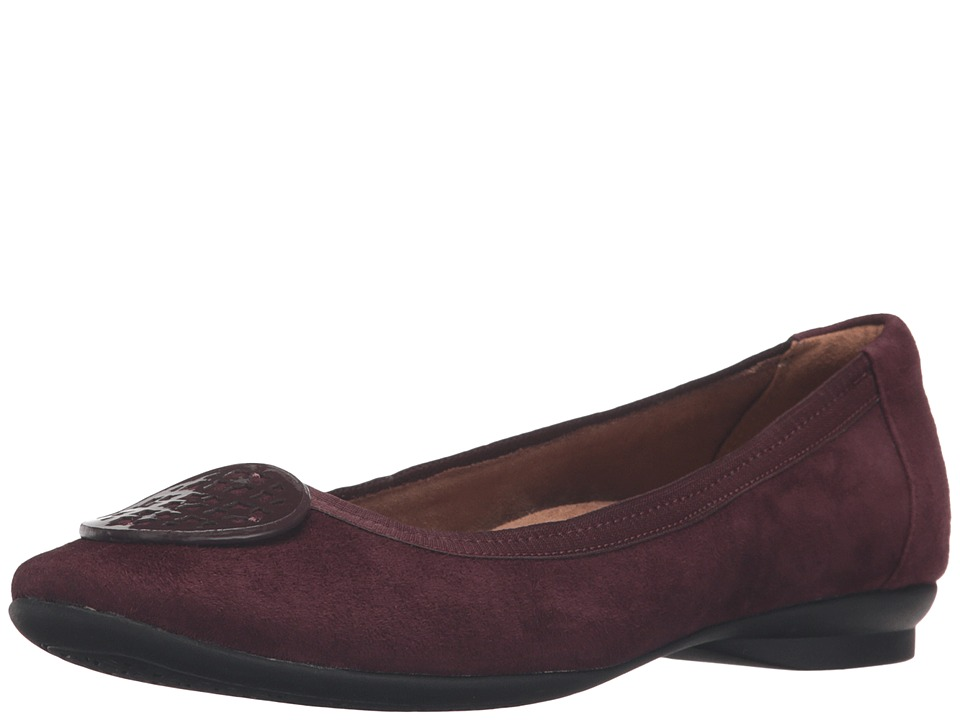 Clarks - Candra Blush (Aubergine Suede) Womens  Shoes