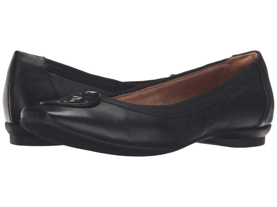 Clarks Candra Blush (Black Leather) Women's Shoes