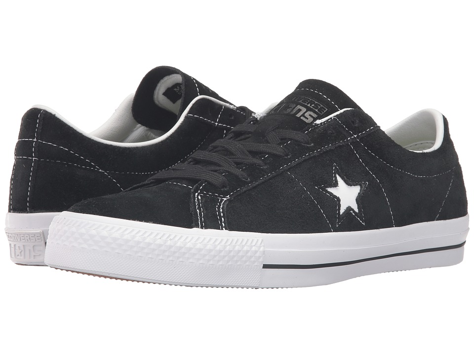 Converse Skate - One Star(r) OG Suede Ox (Black) Lace up ...
