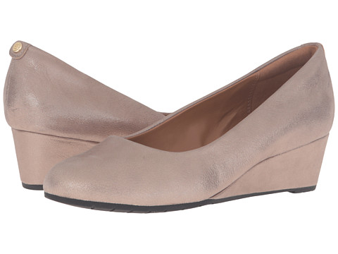 Clarks Vendra Bloom - Champagne Metallic Leather