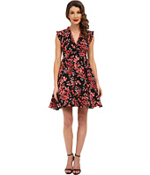 Unique Vintage - Cherry Blossom Fit & Flare Dress