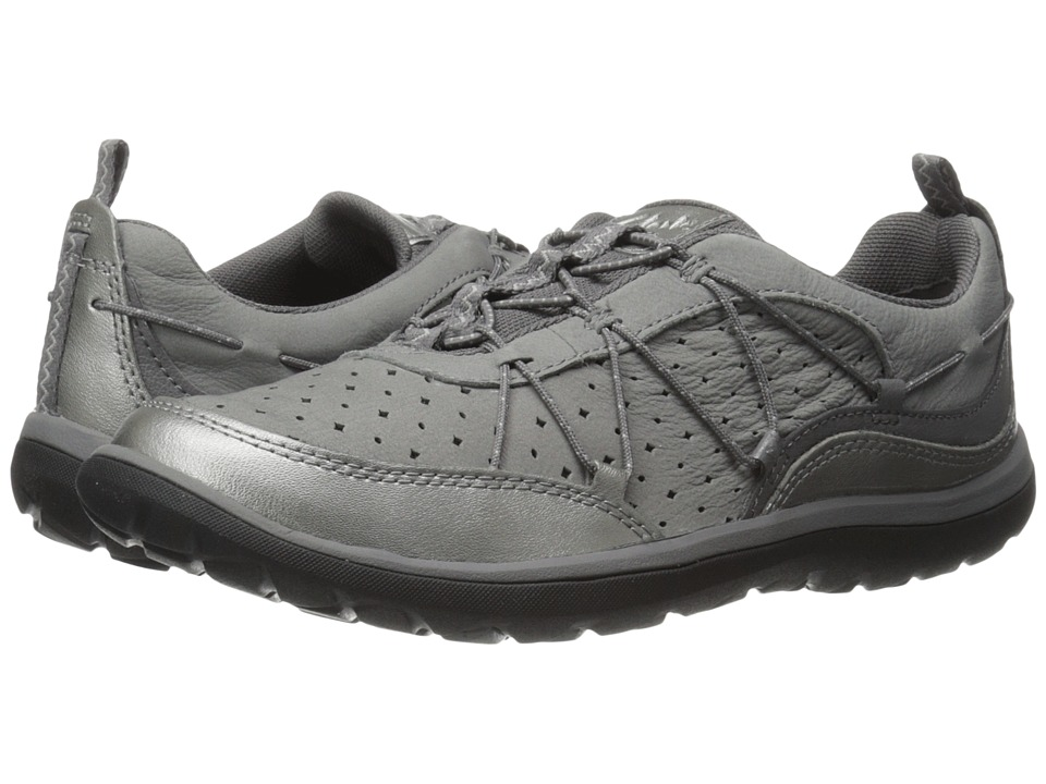Clarks Aria Flyer (Pewter Leather) Women