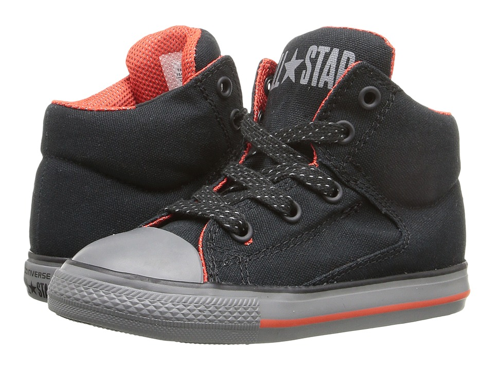 Converse Kids - Chuck Taylor All Star High Street (Infant/Toddler) (Black/Signal Red/Thunder) Boys Shoes