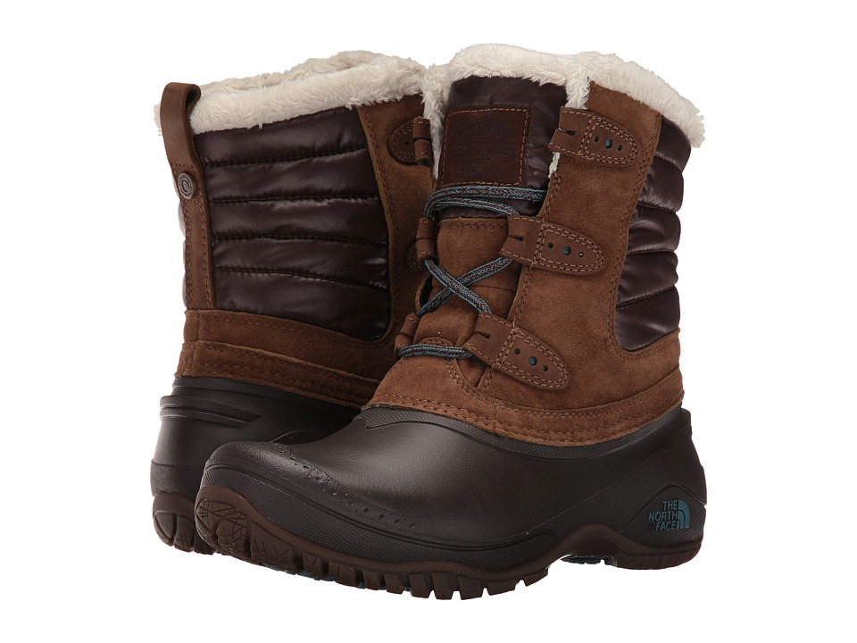 North Face Shellista II Shorty (Dark Earth Brown/Storm Bl...