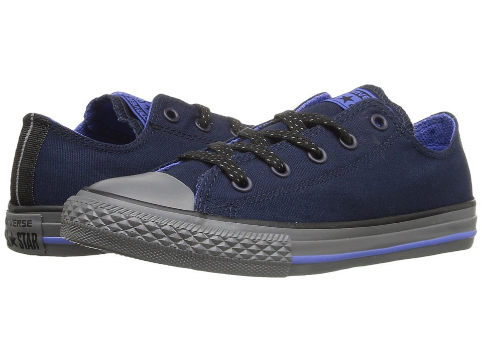 Converse Kids - Chuck Taylor All Star Ox (Little Kid/Big Kid) (Obsidian/Oxygen Blue/Thunder) Boys Shoes