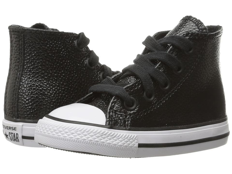 Converse Kids - Chuck Taylor All Star Hi (Infant/Toddler) (Black/White/Black) Girls Shoes