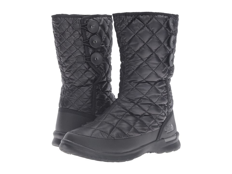 The North Face ThermoBall Button Up (Shiny TNF Black/Smoked Pearl Grey) Women's Pull-on Boots