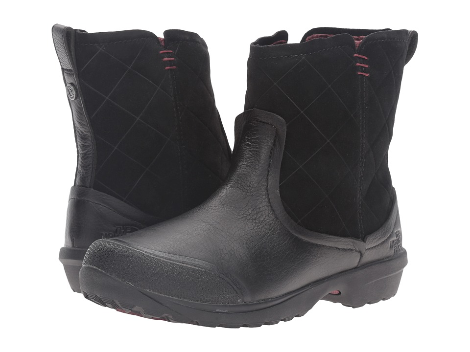 The North Face - ThermoBall Utility Metro Shorty (TNF Black/Deep Garnet Red) Women