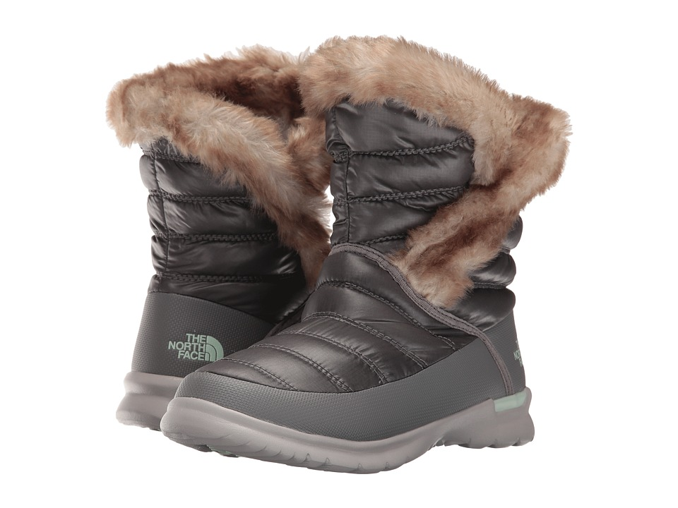 The North Face - ThermoBall Microbaffle Bootie II (Shiny Smoked Pearl Grey/Subtle Green) Women
