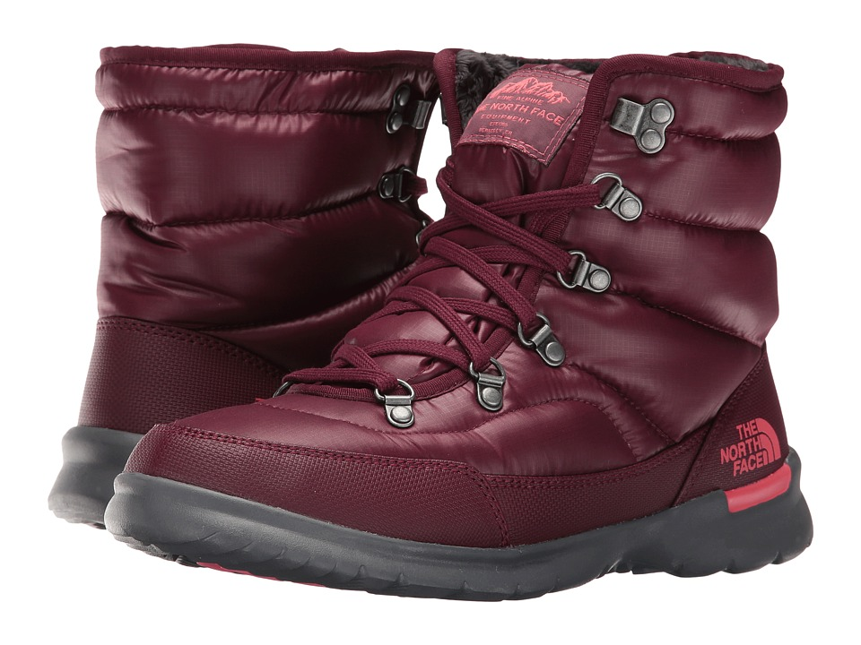 The North Face ThermoBall Lace II (Shiny Deep Garnet Red/Calypso Coral) Women