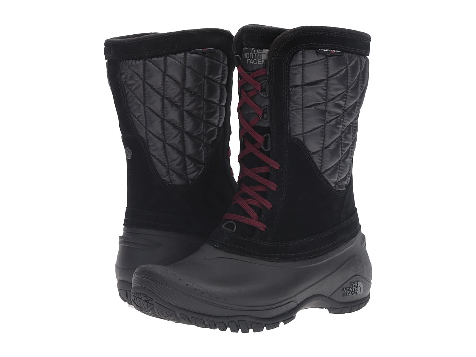 The North Face ThermoBall Utility Mid (TNF Black/Deep Garnet Red) Women