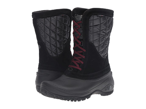 The North Face ThermoBall Utility Mid - TNF Black/Deep Garnet Red