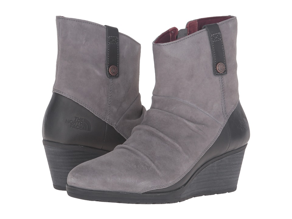 The North Face Bridgeton Wedge Zip (Smoked Pearl Grey/Deep Garnet Red (Prior Season)) Women's Lace-up Boots