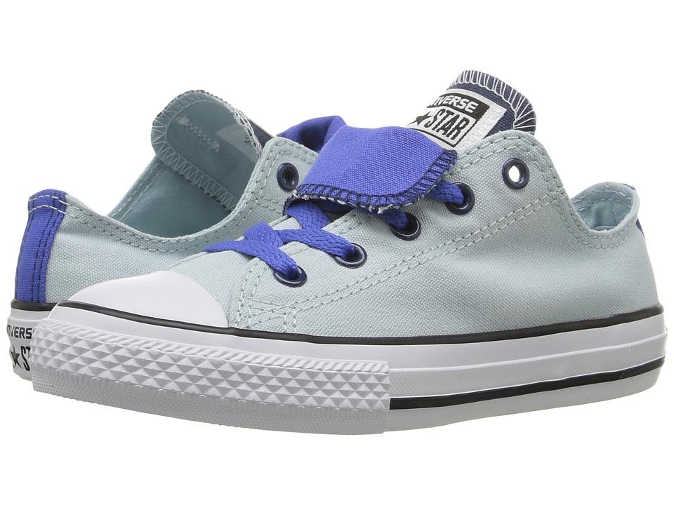 Converse Kids - Converse Kids - Chuck Taylor All Star Double Tongue (Little Kid/Big Kid) (Polar Blue/Oxygen Blue/White) Girls Shoes