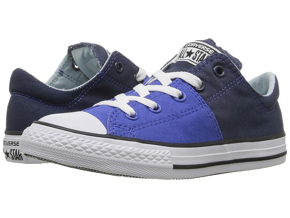 Converse Kids - Chuck Taylor All Star Madison Ox (Little Kid/Big Kid) (Navy/Polar Blue/White) Girls Shoes