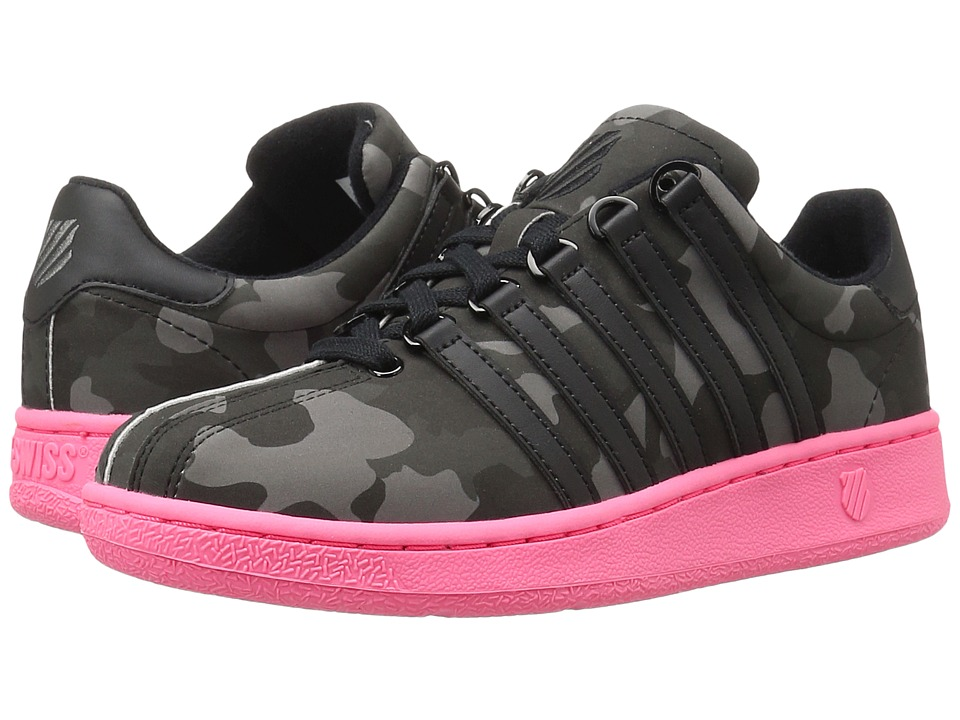K-Swiss Classic VN Camo Glam (Black/Pewter/Neon Red Leather) Women