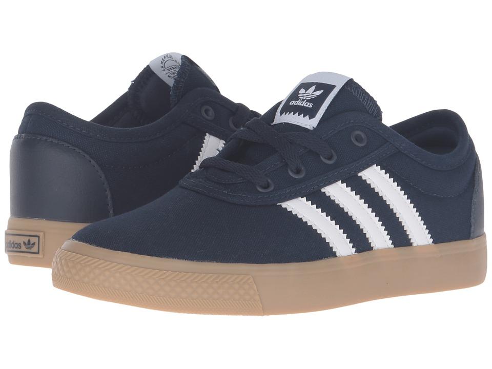 adidas Skateboarding - Adi-Ease J (Little Kid/Big Kid) (Collegiate Navy/White/Gum4) Skate Shoes