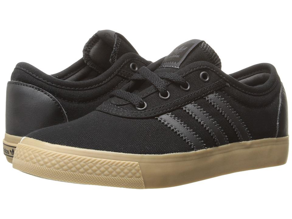 Image of adidas Skateboarding - Adi-Ease J (Little Kid/Big Kid) (Black/DGH Solid Grey/Gum4) Skate Shoes