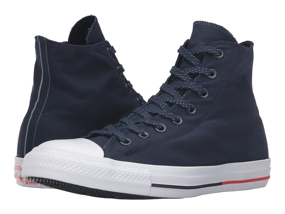 Converse Chuck Taylor All Star Shield Canvas Hi (Obsidian/White/Signal Red) Lace up casual Shoes