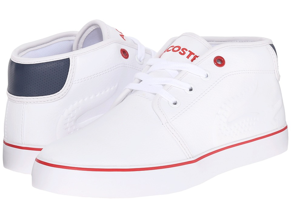 Lacoste Kids Ampthll SP16 Little Kids/Big Kids White Boys Shoes