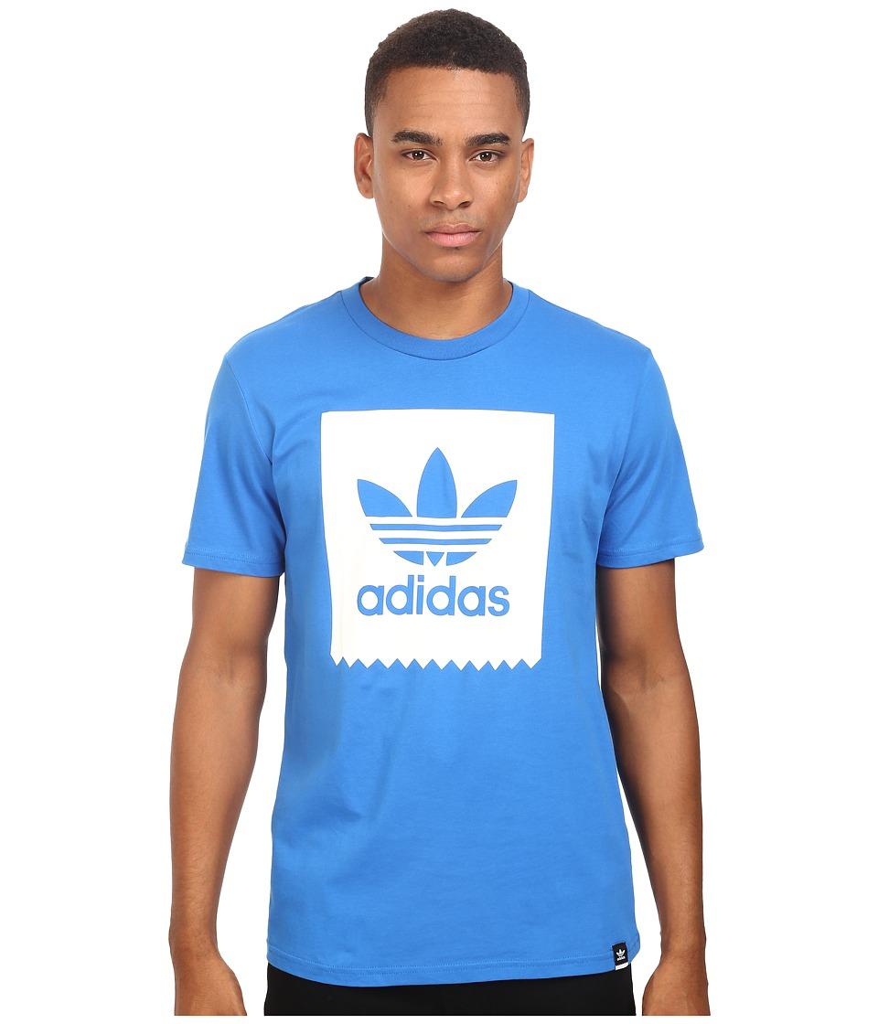 adidas Skateboarding - Blackbird Logo Fill Tee (Bluebird/White) Men