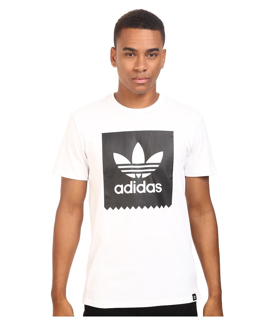 adidas Skateboarding Blackbird Logo Fill Tee (White/Black) Men