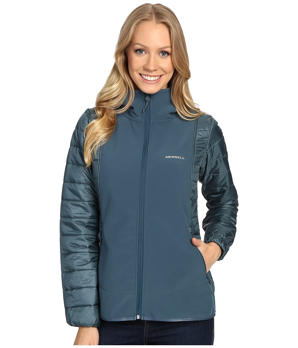 Merrell - Northernlites Hybrid Softshell Jacket (Blue Spruce) Women
