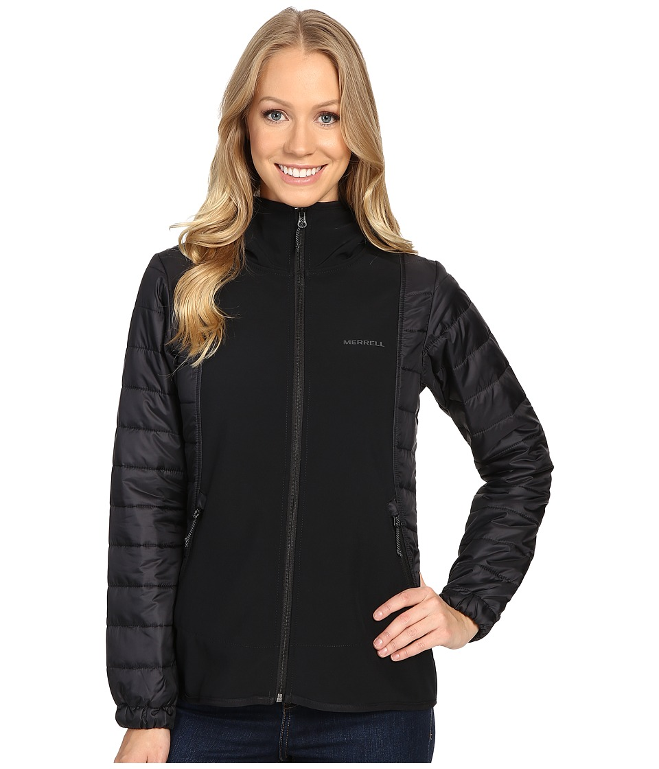 Merrell - Northernlites Hybrid Softshell Jacket (Black) Women