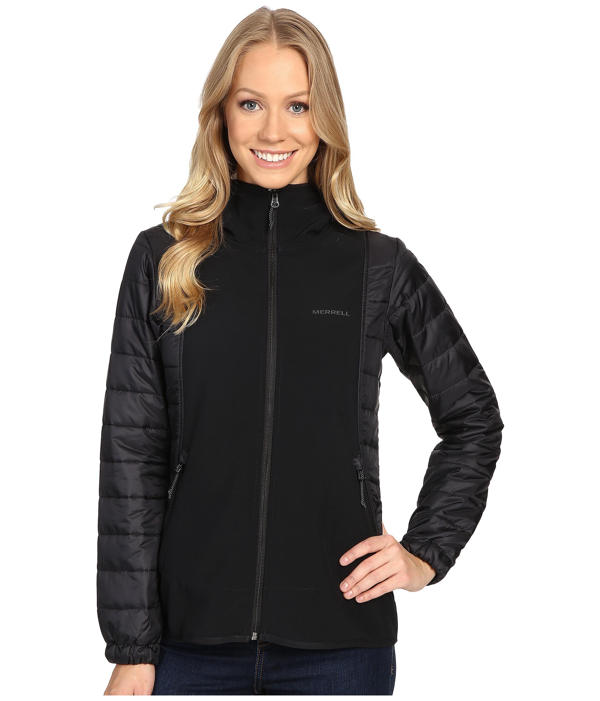 Merrell Northernlites Hybrid Softshell Jacket Black Zapposcom Free