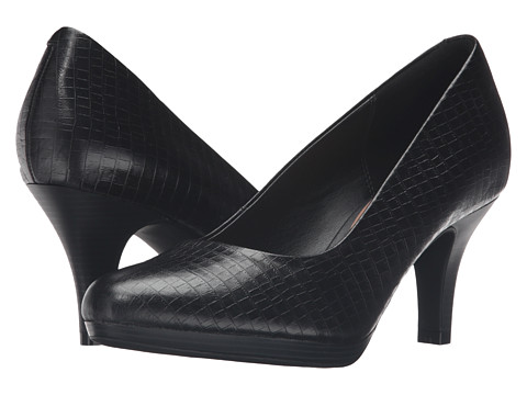 Clarks Brenna Maple - Black Croc Leather