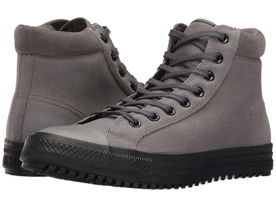Converse Chuck Taylor All Star Boot PC Coated Leather Hi (Charcoal Grey/Blue Lagoon/Black) Men