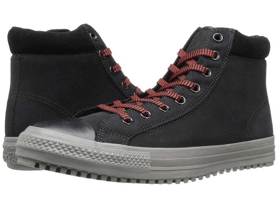 Converse Chuck Taylor All Star Boot PC Coated Leather Hi (Black/Charcoal Grey/Signal Red) Men