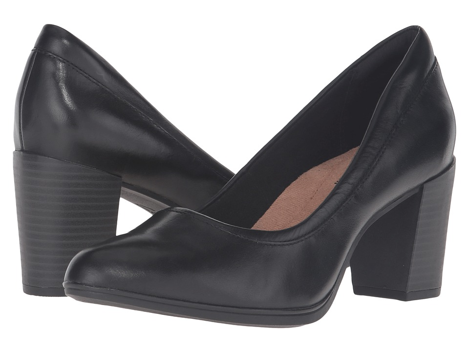 Clarks Araya Moon (Black Leather) Women