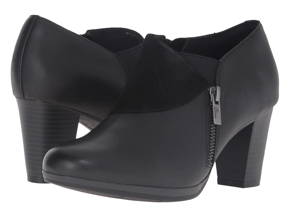 Clarks - Brynn Sandra (Black Leather/Suede Combo) Women