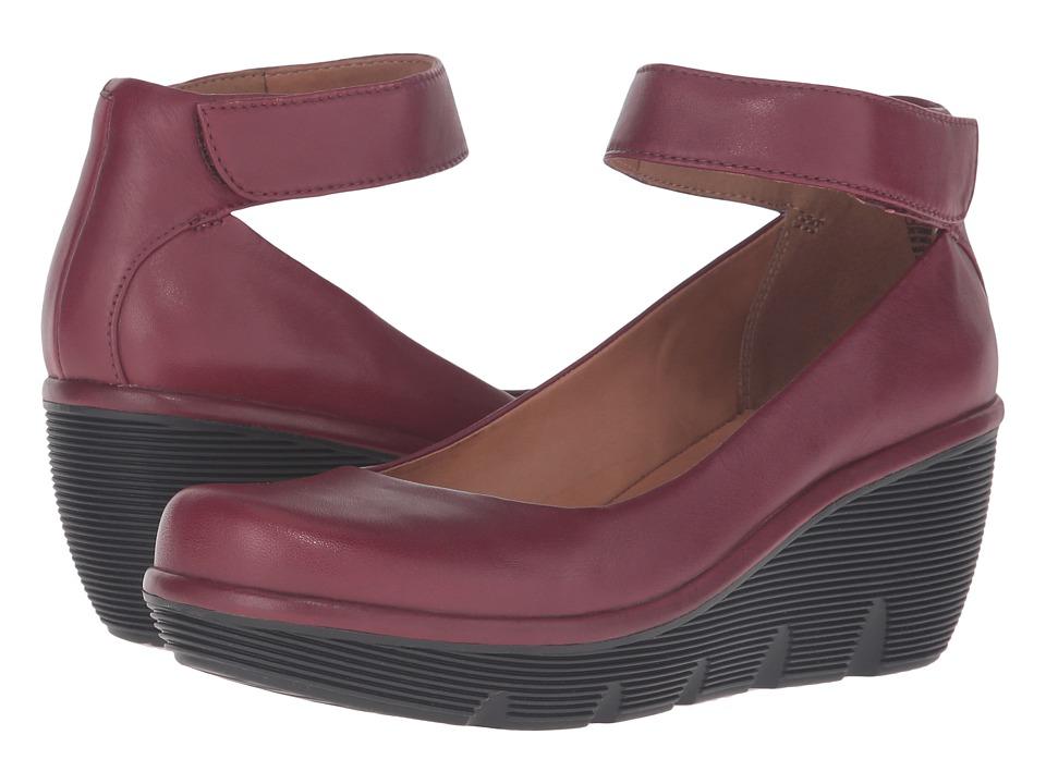 Clarks - Clarene Tide (Burgundy Leather) Women