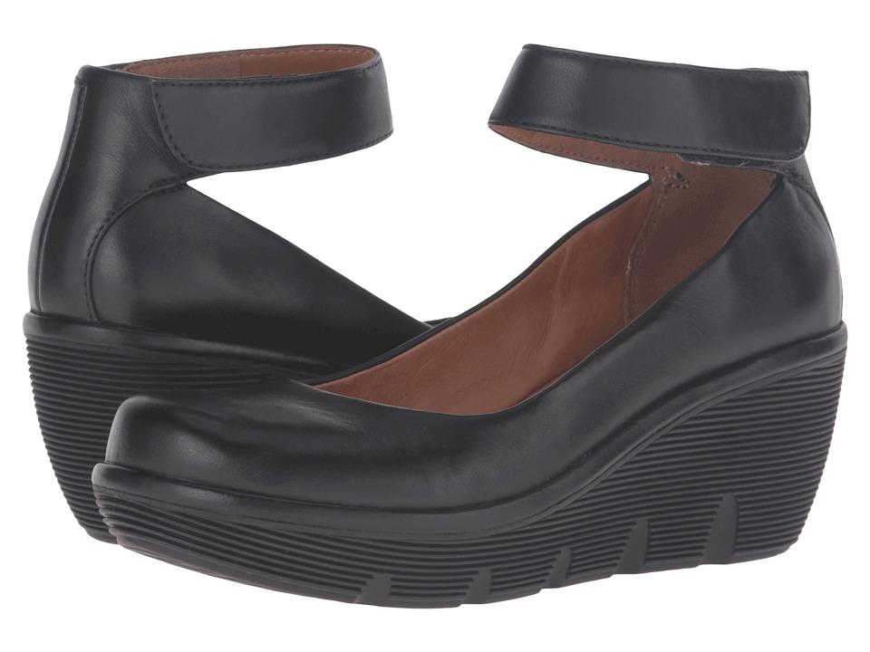 Clarks - Clarene Tide (Black Leather) Women