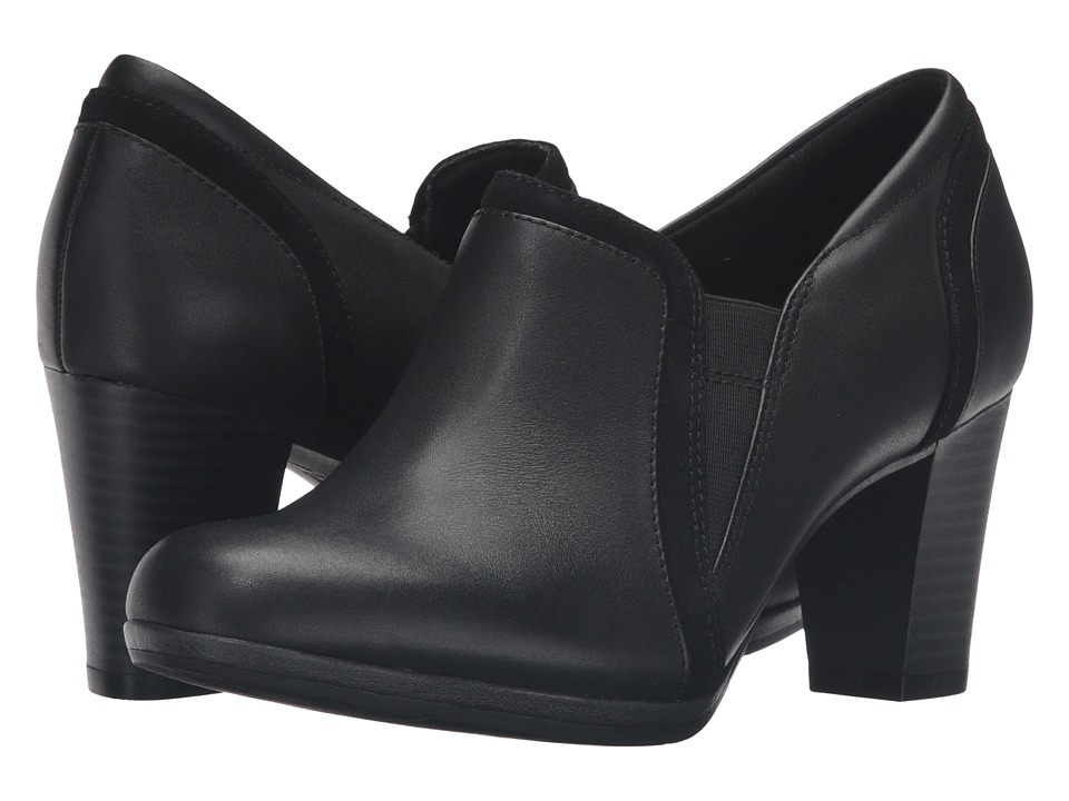 Clarks - Brynn Ramona (Black Leather/Suede Combo) Women