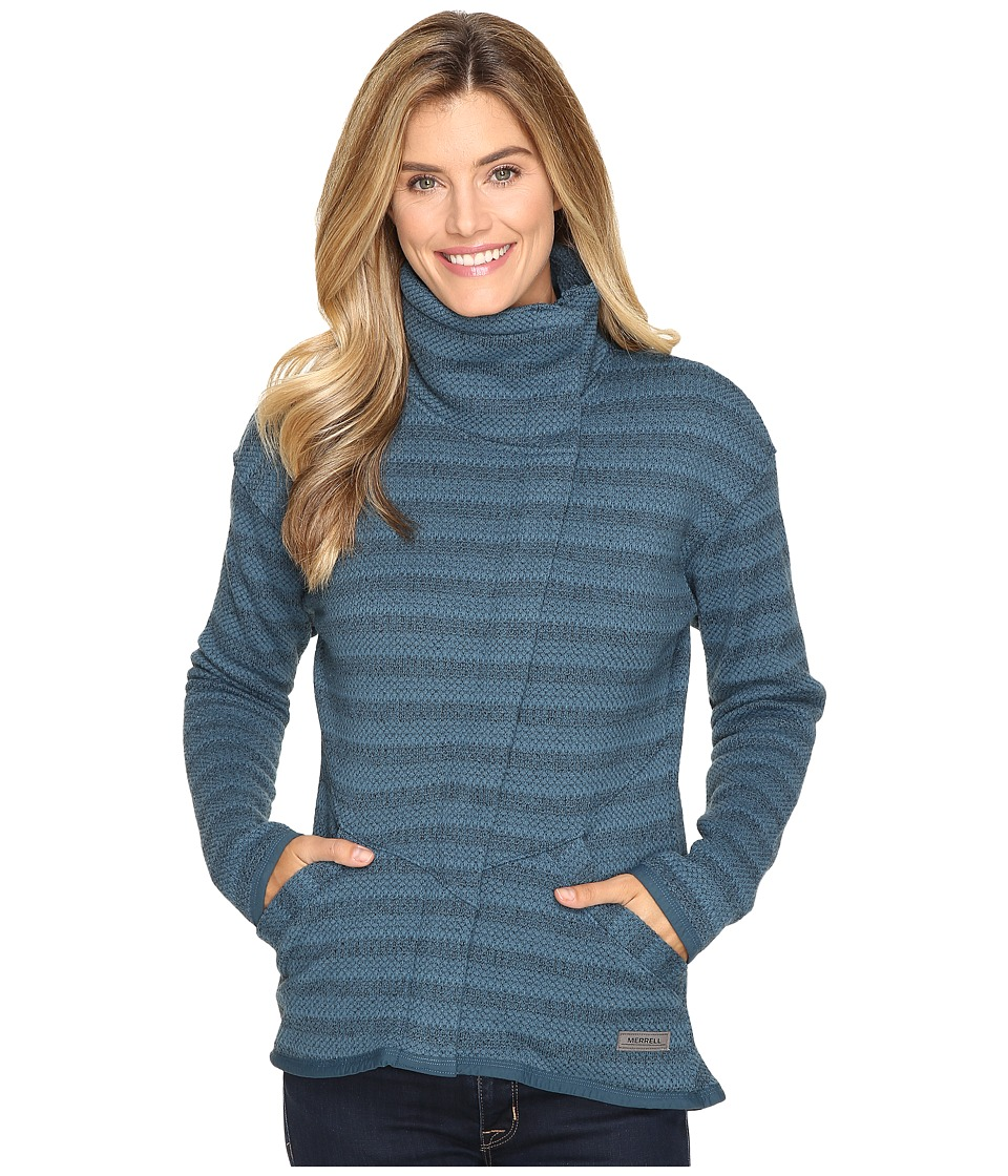 Merrell Freespirit Full Zip Cardigan (Blue Spruce Tweed) Women