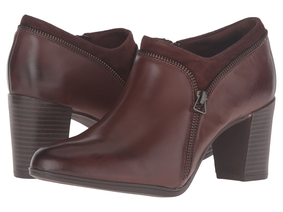 Clarks Araya Morgan (Brown Leather/Suede Combo) Women