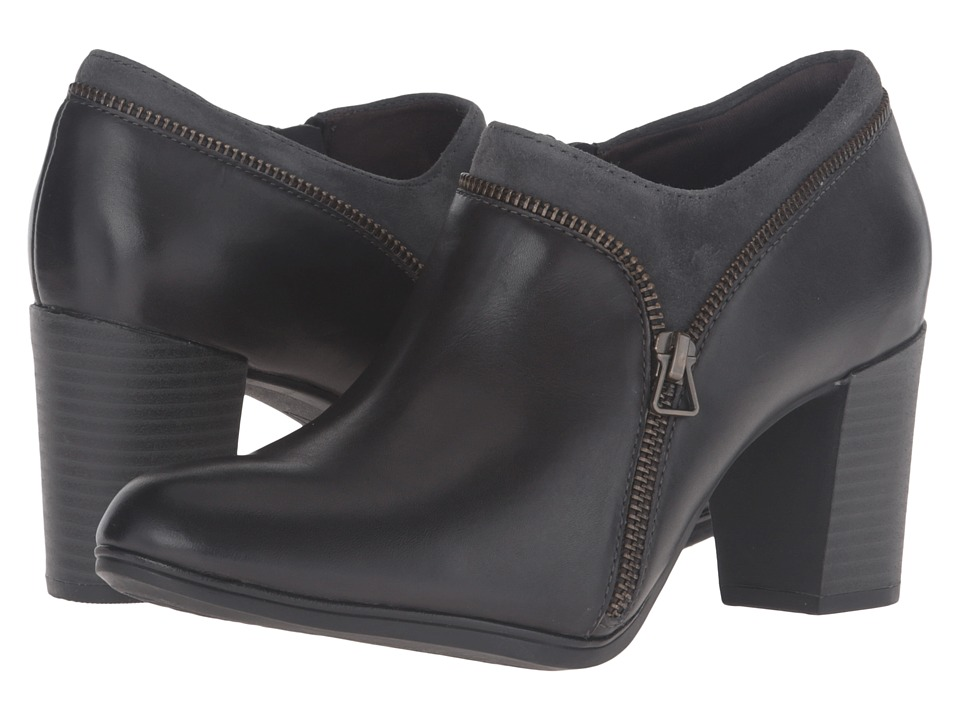 Clarks Araya Morgan (Dark Grey Leather/Suede Combo) Women