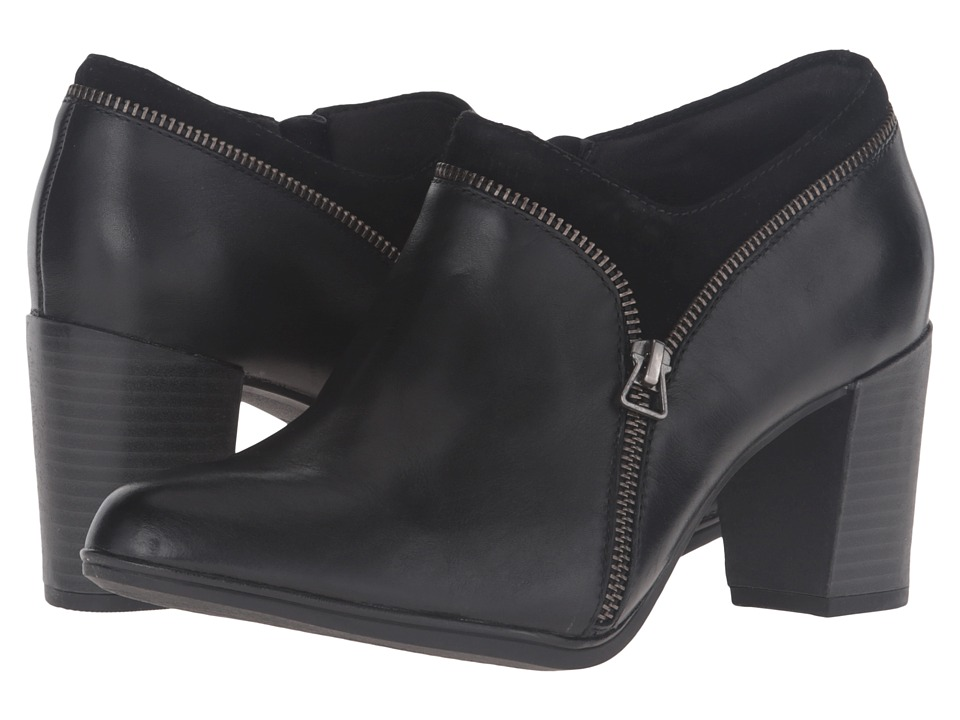 Clarks Araya Morgan (Black Leather/Suede Combo) Women