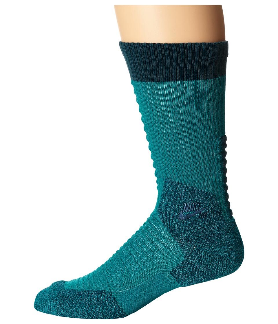 Nike SB - Skate Crew 2.0 Sock (Rio Teal/Midnight Turquoise/Midnight Turquoise) Crew Cut Socks Shoes